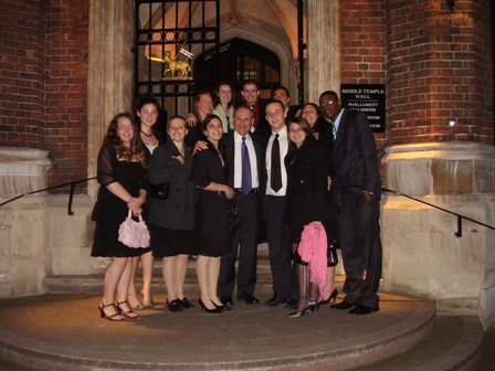 Bentley students and faculty in London
